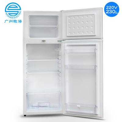 Thương mại nước ngoài xuất khẩu tàu chuyên dụng 110 V / 220V60HZ đôi cửa tủ lạnh 230L lạnh đông lạnh
