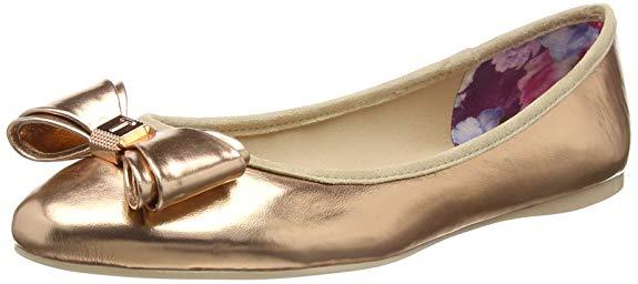 Giày búp bê bằng Da mềm dành cho Nữ , Thương hiệu : TED Baker