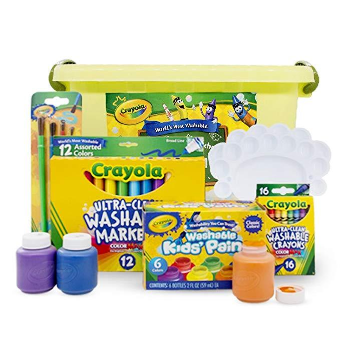 Crayola Crayola Màu Nước Bút Sơn Crayon Set Cổ Điển có thể giặt 6 piece bộ (có thể giặt sắc tố + bút