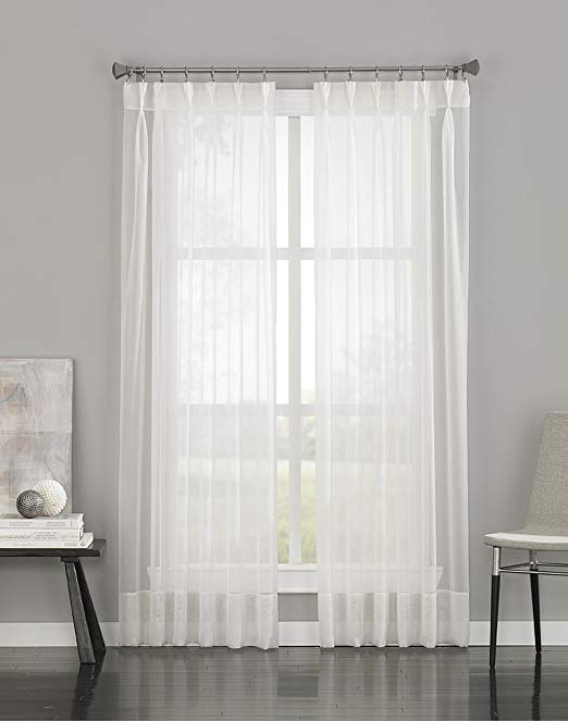 Curtainworks Soho Voile tuyệt Pinch Pleat Curtain Panel, 29 của 108