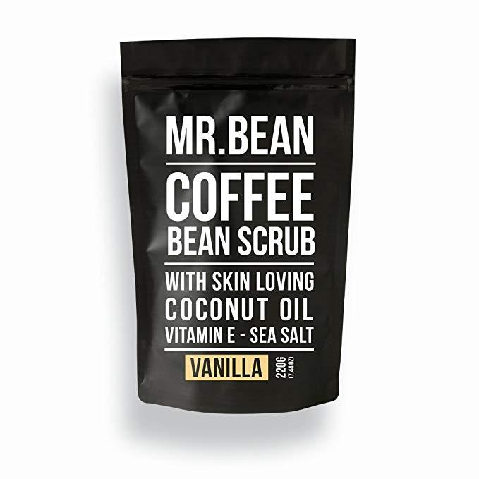 Ông đậu Body Care Organic * Cà phê Bean Scrub với dầu dừa Vitamin E muối biển và cacao - caffeine dự