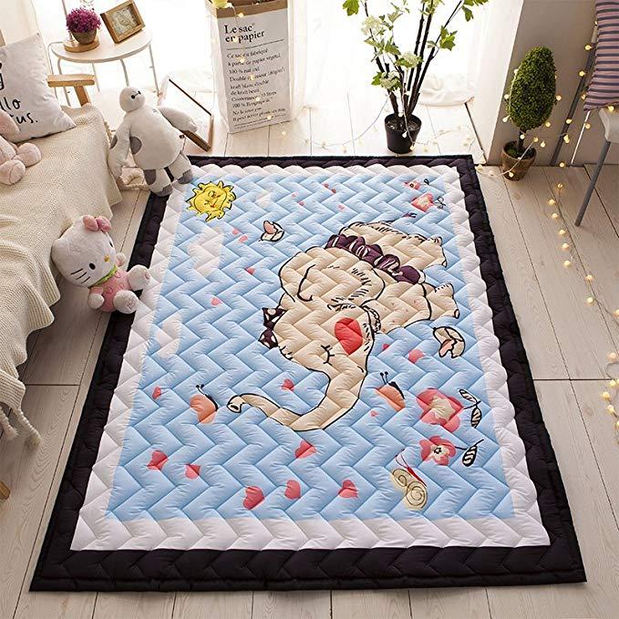 J.H.Longess ins thảm bông dày bò mat bò thảm phòng khách thảm độ ẩm pad trẻ em bé mat bé trò chơi ma