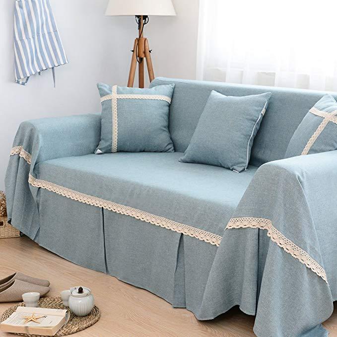Le Wei Shi vải không trượt sofa khăn đơn giản màu rắn sofa bìa bìa ba người multi-person kết hợp sof