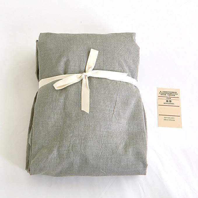 Bộ đồ giường kiểu Nhật Bản Jeanpop Bộ khăn trải giường bằng sợi bông giặt nhuộm màu, kích thích bằng