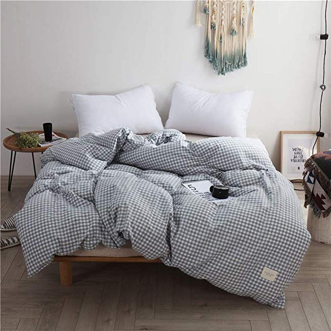 R. Xkarina Ma Di Rina Nhật Bản-phong cách bộ đồ giường Bắc Âu rửa giường bông bốn mảnh ins gió sheet