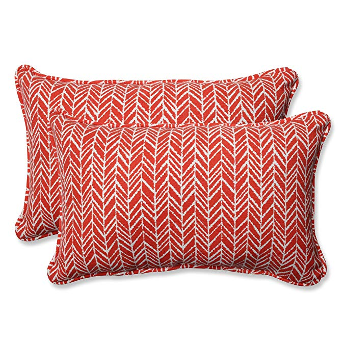 Gối Nằm ngủ hình chữ nhật quá khổ (Bộ 2), màu đỏ sọc Trắng .