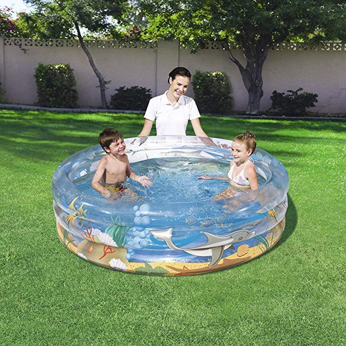 Bể bơi xanh trẻ em hình đại dương 177.8 x 53.34 cm Bestway