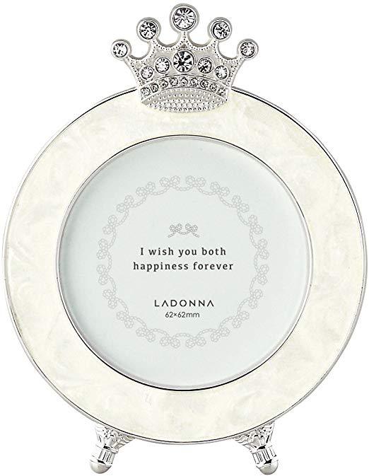 Khung ảnh tròn để bàn hình vương miện Ladonna BJ09-S2