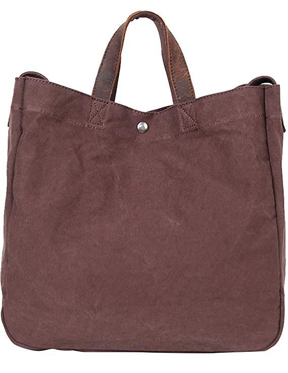 Túi xách Xiwei màu nâu kích thước lớn, thích hợp cho cả nam và nữ