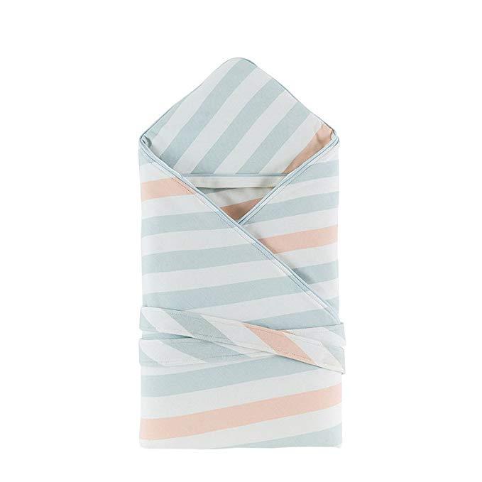 Chăn bông cho trẻ sơ sinh vải thoáng mỏng, màu xanh nhạt LIANGLIANG