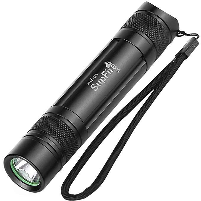 SupFire -S5 Mini Đèn pin nhỏ gọn và di động chống nước , tự vệ