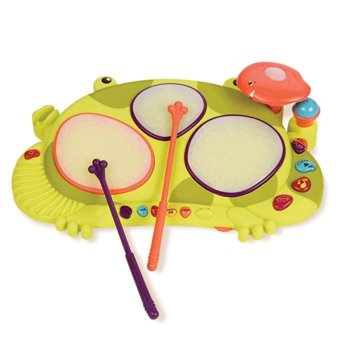 Bộ gõ trống điện tử hình ếch có đèn B.Toys