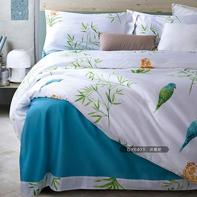 60 bộ dài- staple bông bốn mảnh thiết lập [28 màu sắc tùy chọn] bông bông 1,8m giường đôi in màu sat
