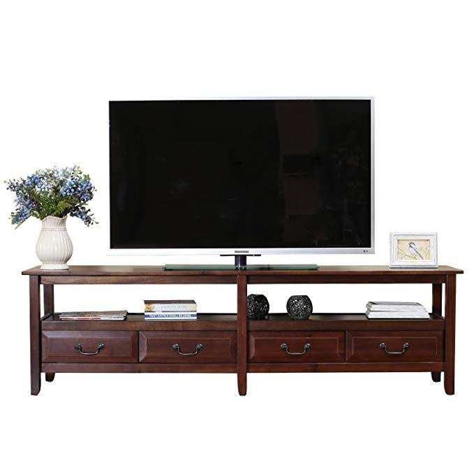 Bajia Việt Nam nhập khẩu rắn gỗ tủ TV đồ nội thất phòng khách tủ lưu trữ tủ TV 59406 nâu