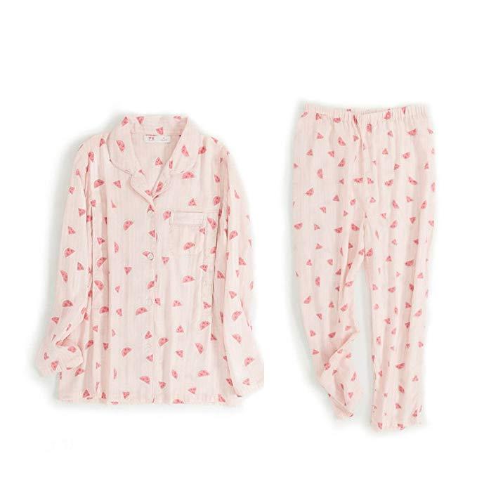 Giấc mơ mật ong dưa hấu mỏng bông gạc tháng quần áo mùa hè phụ nữ mang thai đồ ngủ sau sinh ăn quần