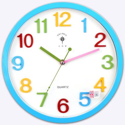 Polaris 12 inch dễ thương phim hoạt hình sáng tạo đồng hồ treo tường trẻ em phòng ngủ phòng im lặng