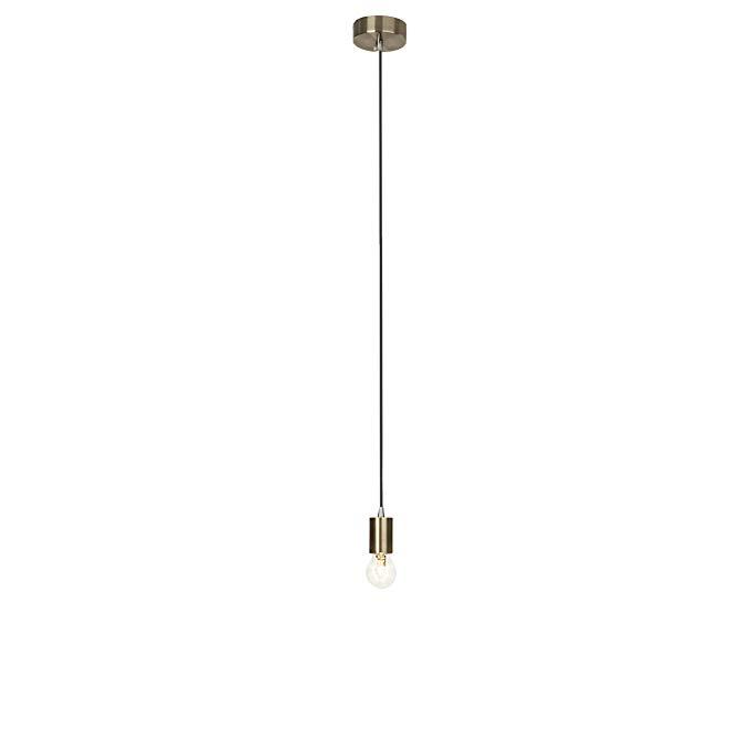 Đèn chùm coppra rực rỡ, 1 - rực lửa, 1 x * 60 W E 27, kim loại, đồng cổ, 4 X 4 X 118 cm, 93552/31