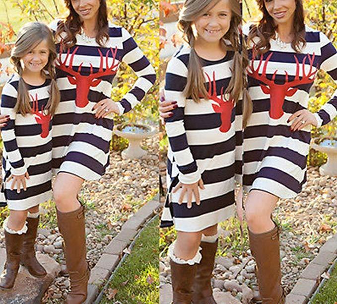 Thời Trang cho Gia đình : Đầm thun cotton cho Cho mẹ và bé .