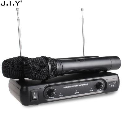 Micro không dây ktv hát nhà karaoke microphone microphone máy tính VHF một cho hai micro không dây