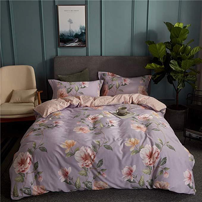 Đơn giản 60 dài- staple bông chà nhám bốn mảnh bông dày mùa thu và mùa đông giường in mô hình bông t
