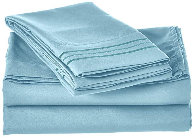 Elegant Comfort 4 mảnh bộ khăn trải giường! Sang trọng mềm 1500 Ai Cập chất lượng nếp nhăn túi sâu,