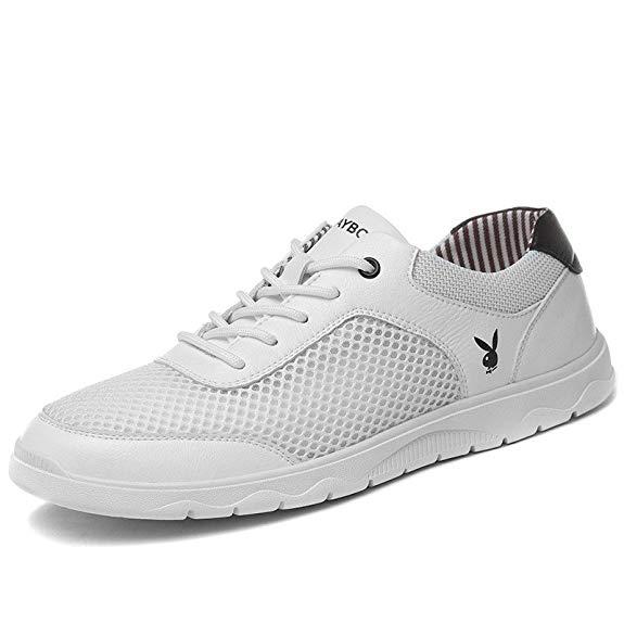 Giày thể thao nam dạng vải lưới màu trắng kem PLAYBOY