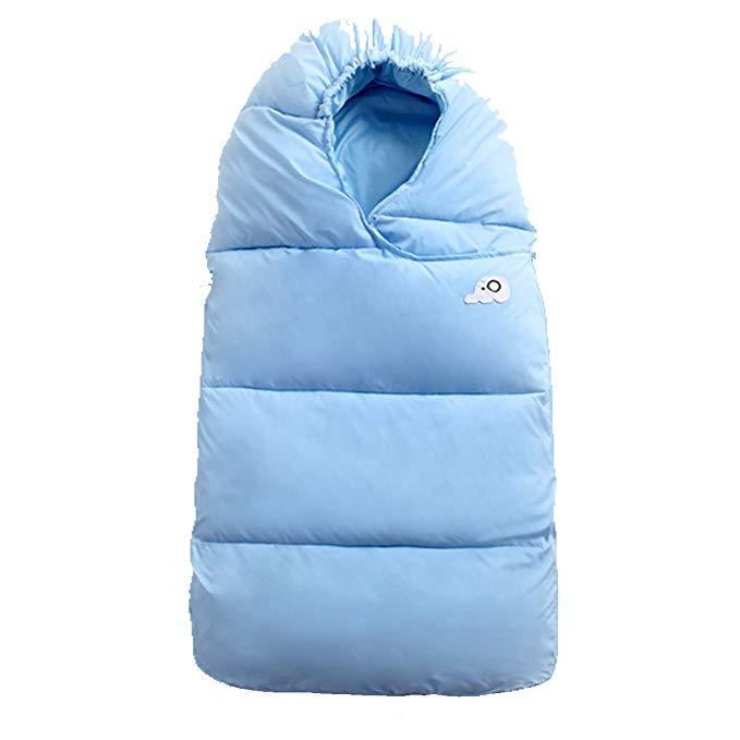 Túi ngủ đệm dày trẻ em màu xanh và cam Wabooc