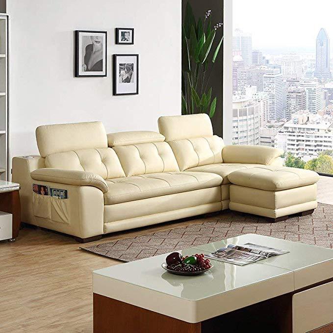 Nội Thất căn hộ : Sofa bằng Da cao cấp thiết kế đơn giản và hiện đại .