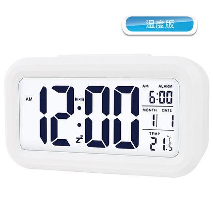 Polaris đa chức năng đồng hồ báo thức im lặng sáng sinh viên lười biếng đồng hồ điện tử ngủ ngủ giườ