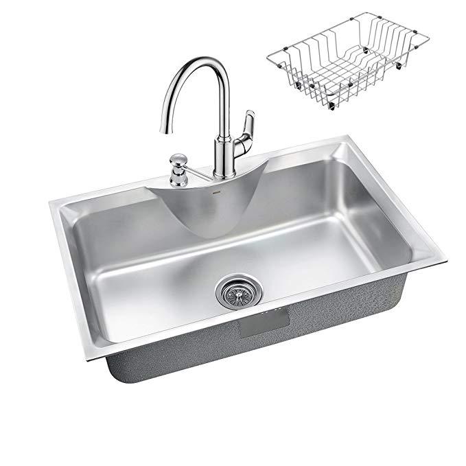 Vật dụng cho Nhà bếp : bồn rửa chén Rãnh Đơn Lớn bằng Inox .