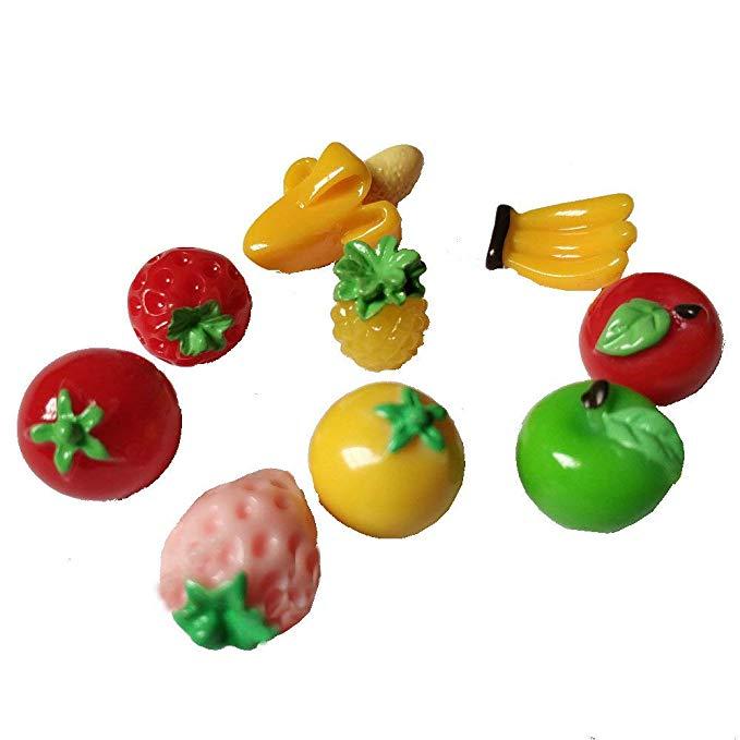 9 cái trái cây apple tiên vườn kit mini tượng trang trí tiên vườn nhà đồ chơi nhà búp bê phụ kiện DI