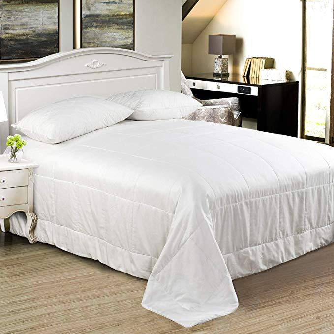 Sincesilk lụa mùa hè mát mẻ bao gồm / quilt / quilt cover tự nhiên dài- chuỗi lụa đầy 100% bông sati