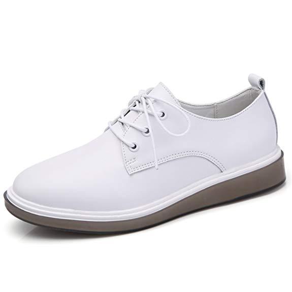 Giày da trắng kiểu dáng đơn giản JIFENGJIANHAO