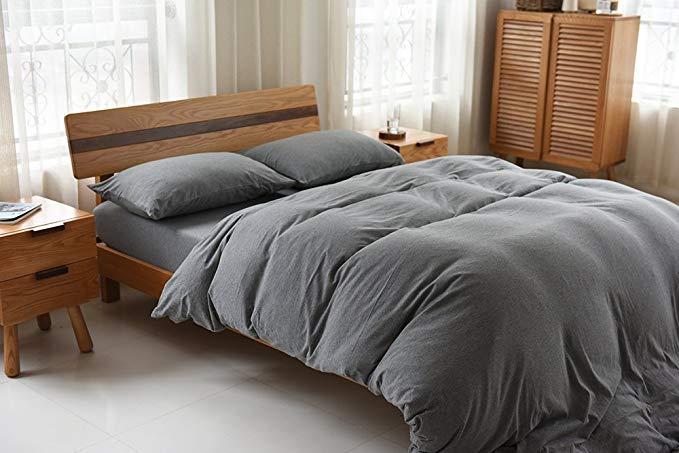 Jeanpop Nhật Bản-phong cách tốt bộ đồ giường Scorpio bông đan giường, bốn mảnh bộ Naked ngủ chất lượ