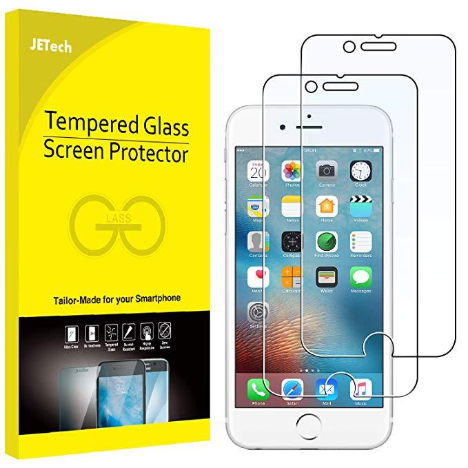 Mỹ JETech 2 piece Apple iPhone6s iPhone 6 tempered glass phim với máy ảnh lỗ vết rạch chống vân tay