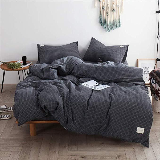 R. Xkarina Ma Di Rina Nhật Bản theo phong cách giường Bắc Âu rửa giường bông bốn mảnh ins giường gió