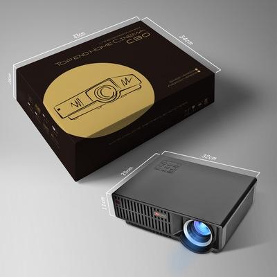 Weiliang máy chiếu C90 tiên phong HD video chiếu LED hiệu quả ánh sáng tối đa có sẵn trong ngày