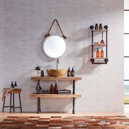 Moyer Bắc Âu tủ phòng tắm gỗ rắn phòng tắm vanity tủ chậu rửa trên quầy lưu vực sàn tủ nhóm SYG017