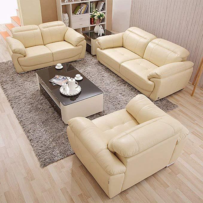 Nội Thất căn hộ : Bộ ghế sofa bằng Da cao cấp, hình chữ U .
