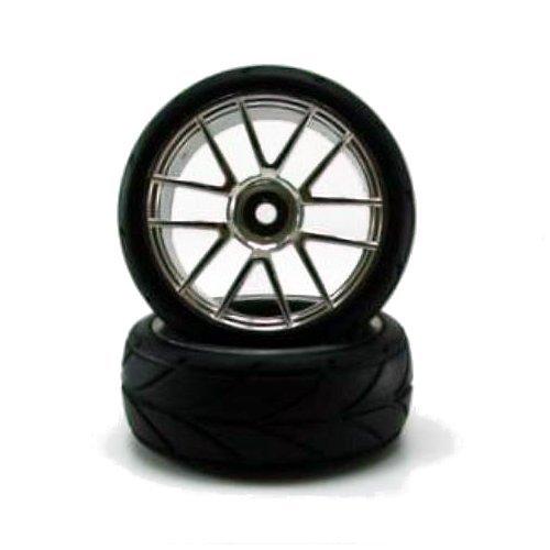 Redcat Racing Chrome bánh xe và lốp xe, 2-mảnh