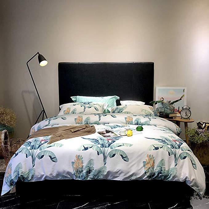 60 dài-staple cotton satin cotton bốn mảnh đơn giản bộ đồ giường cotton in 1.5 / 1.8 m giường Quilt