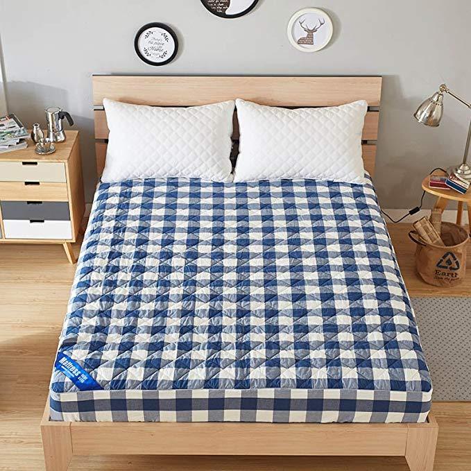 J.H.Longess bông rửa bông chần bông 1,5 m nhíp phong cách gió nệm bảo vệ bao gồm 1,8 m giường mat (L