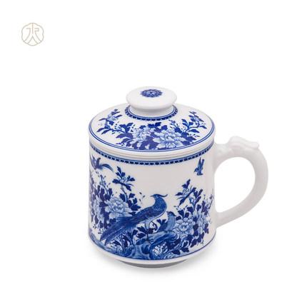 Tách trà sứ có nắp Trung Hoa Chengde