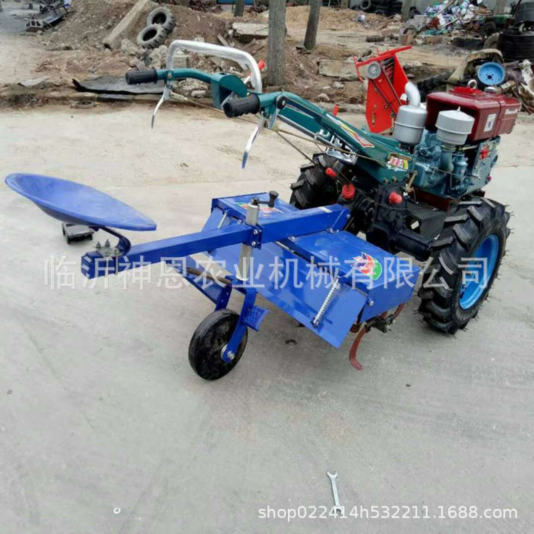 Small walking tractor, ridge machine, retail, multi-function hand held farmland machine can bring ma