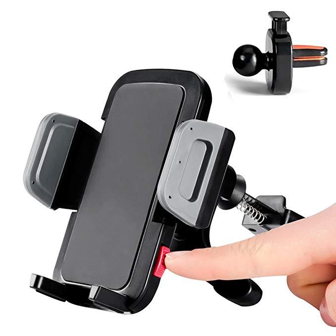 Whirldy Car Phone Chủ Air Outlet Đứng Điện thoại di động Đứng Một tay hoạt động Tương thích với 3.5-