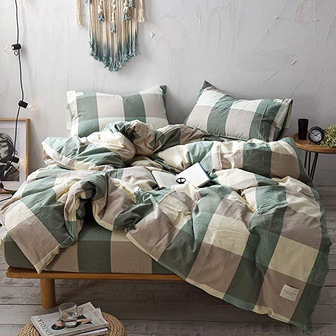 R. Xkarina Ma Di Rina Nhật Bản theo phong cách bộ đồ giường Bắc Âu rửa giường bông bốn mảnh ins giườ