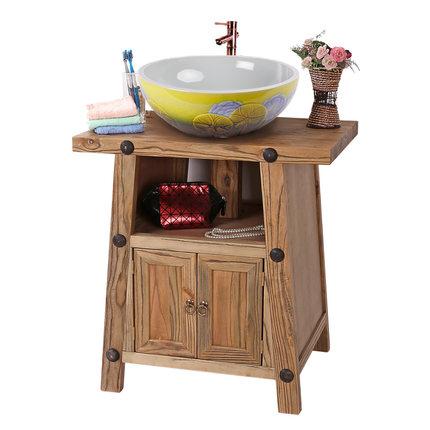 Moyer phòng tắm phòng tắm tủ nghệ thuật vanity old antique gỗ rắn tủ phòng tắm chậu rửa trên truy cậ