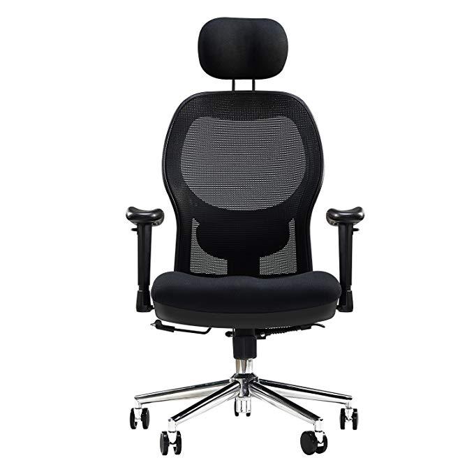Ghế Lưới xoay có tựa đầu dành cho văn phòng .
