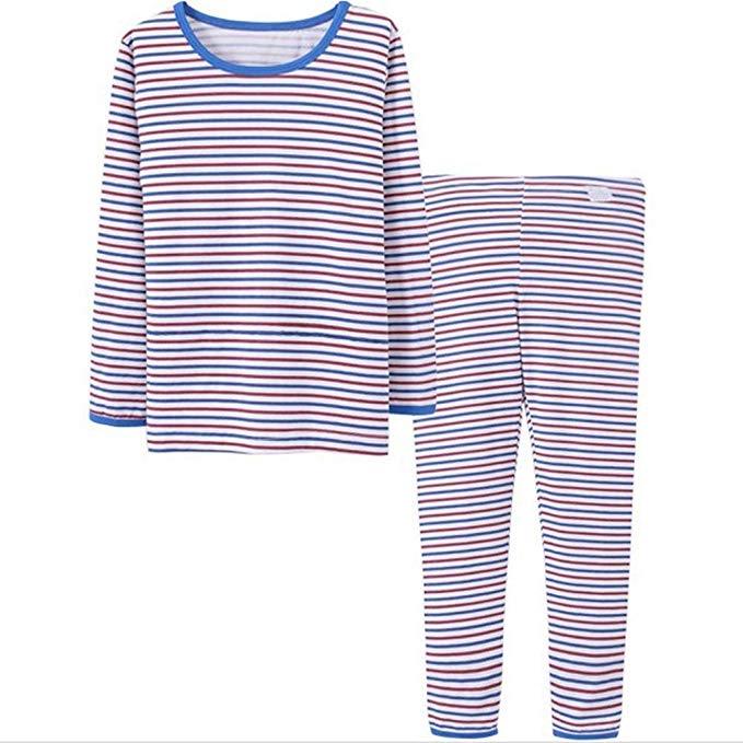 YD Yu Di Trẻ Em của đồ ngủ nhiệt đồ ngủ set chàng trai và cô gái cotton dịch vụ nhà 3 màu tùy chọn (