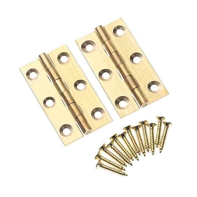 Bản lề Cửa tủ bằng đồng gấp SZ070030051211RK-2 , cỡ 2 miếng 4.99cmx2,54cm .